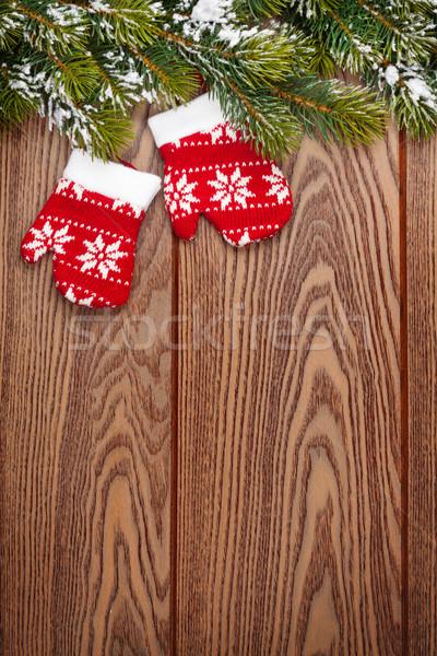Navidad decoración nieve espacio de la copia Foto stock © karandaev