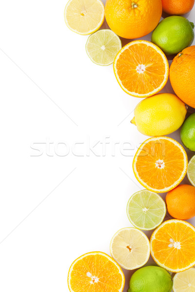 Cytrus owoce pomarańcze cytryny odizolowany biały Zdjęcia stock © karandaev