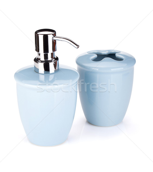Bathroom accessories Stock photo © karandaev