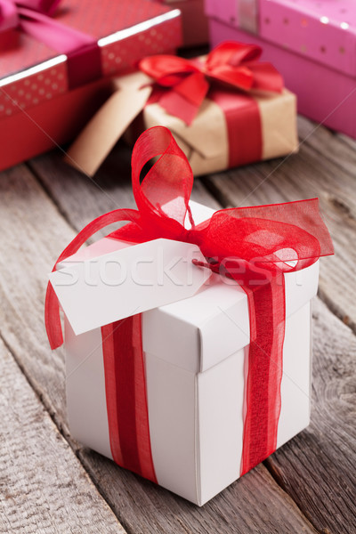 Valentines day gift boxes Stock photo © karandaev