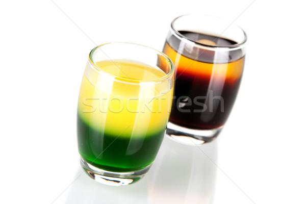 Foto stock: Tiro · cóctel · colección · verde · oro · cucaracha