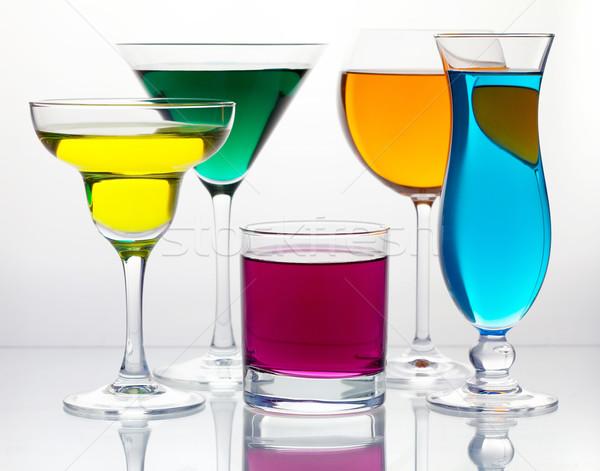 Many color cocktails Stock photo © karandaev