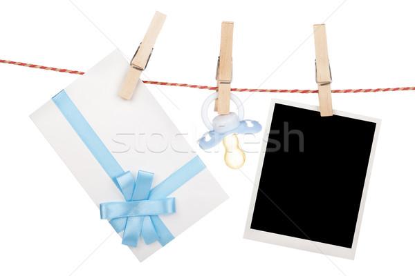 Fotoğraf hediye mektup emzik asılı Stok fotoğraf © karandaev