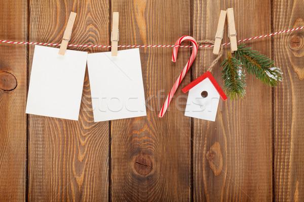 Neige Noël corde Photo stock © karandaev