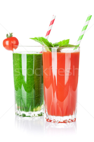 Fresh vegetable smoothie. Tomato and cucumber Stock photo © karandaev