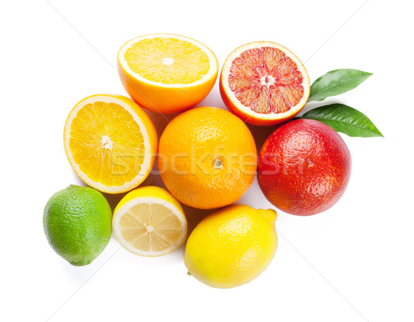 Fresh ripe citruses. Lemons, limes and oranges Stock photo © karandaev
