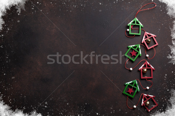Christmas background with decor Stock photo © karandaev