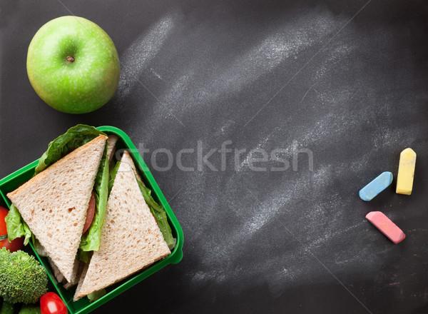 Ebéd doboz zöldségek szendvics gyerekek elvesz Stock fotó © karandaev