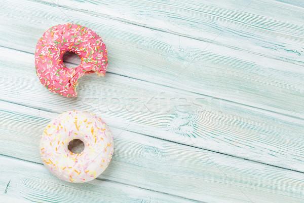 Colorful donuts Stock photo © karandaev