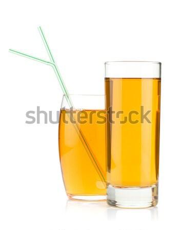 Orange juice in highball glass Stock photo © karandaev