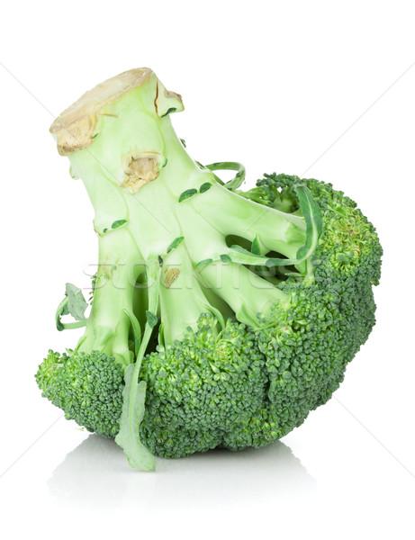 Brokkoli isoliert weiß Hintergrund Gemüse frischen Stock foto © karandaev