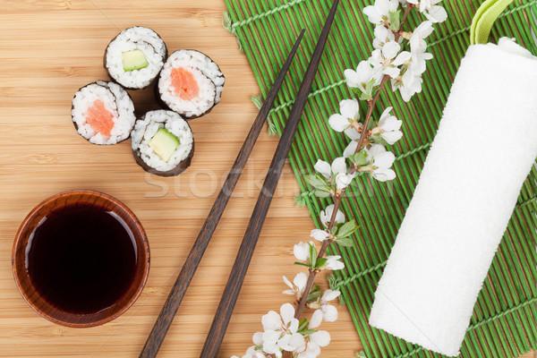 суши маки набор свежие сакура филиала Сток-фото © karandaev