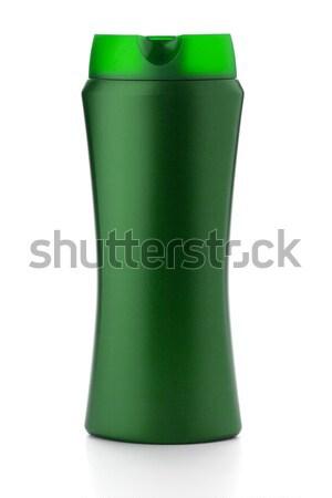 Zöld sampon üveg izolált fehér test Stock fotó © karandaev