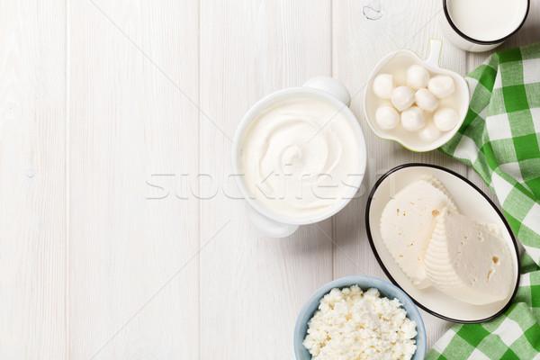 сметана молоко сыра йогурт масло Сток-фото © karandaev