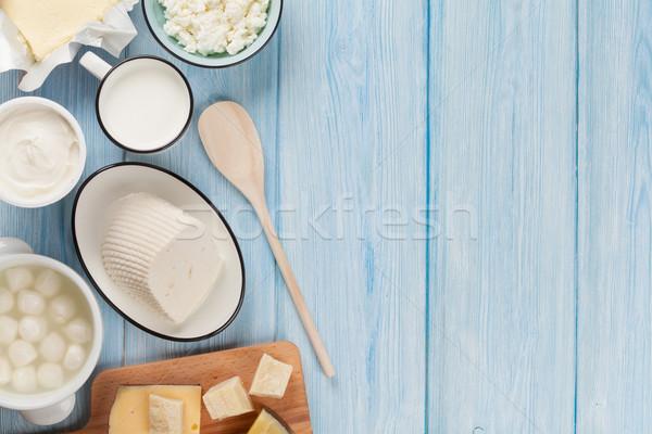 乳製品 サワークリーム ミルク チーズ 卵 ヨーグルト ストックフォト © karandaev