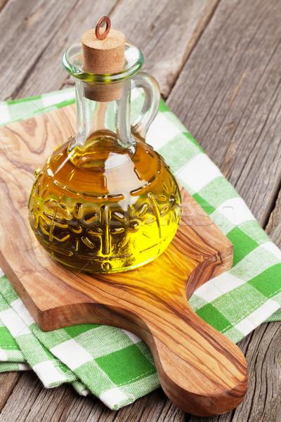 Olive oil bottle Stock photo © karandaev