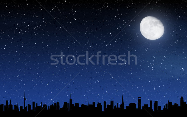 Skyline and deep night sky Stock photo © karandaev