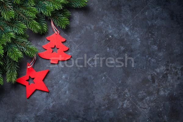 Noël pierre haut vue Photo stock © karandaev