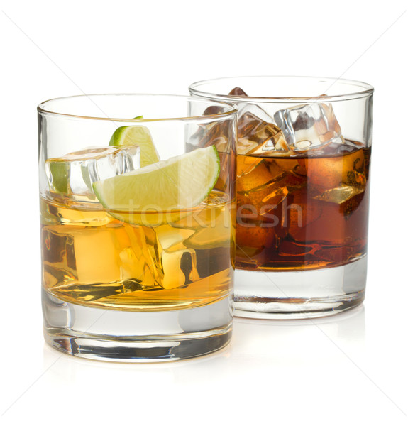 Whiskey and cola cocktails Stock photo © karandaev