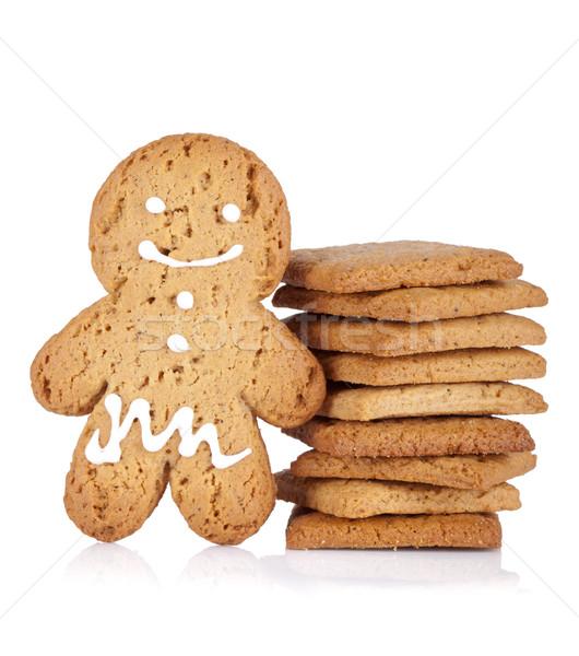 Колобок Cookie Cookies изолированный белый любви Сток-фото © karandaev