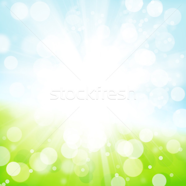 Blurred bokeh nature background with sea cost Stock photo © karandaev
