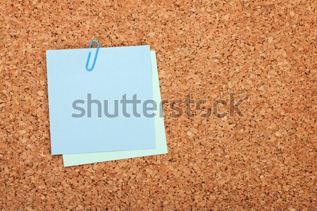 Nota cortiça quadro de avisos madeira cópia espaço cor Foto stock © karandaev