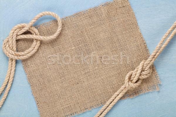 Navio corda velho textura pano de saco Foto stock © karandaev