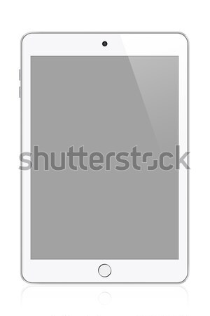 White modern tablet Stock photo © karandaev