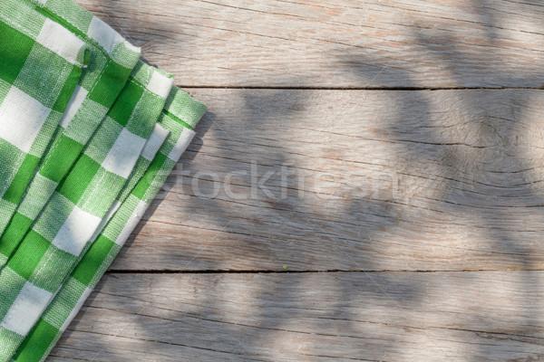 Vide bois jardin table nappe haut Photo stock © karandaev