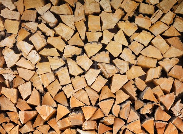 スタック 薪 パターン 木材 抽象的な 自然 ストックフォト © karandaev