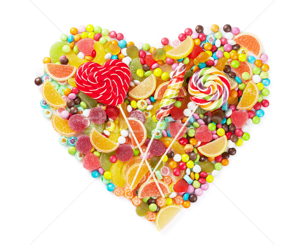 Colorful candies, jelly and marmalade heart Stock photo © karandaev
