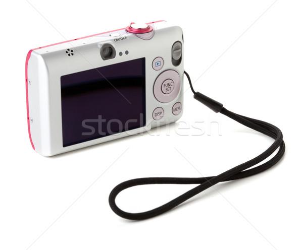 Compacto câmera digital isolado branco menina fundo Foto stock © karandaev