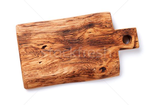 Planche à découper isolé blanche haut vue texture Photo stock © karandaev