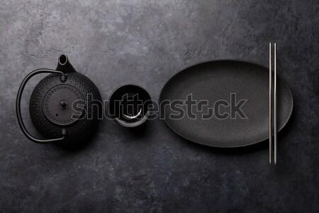Különböző tea felső kilátás űr ital Stock fotó © karandaev