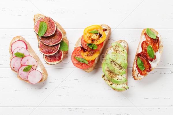Foto stock: Tradicional · espanhol · tapas · aperitivos · italiano · antipasti