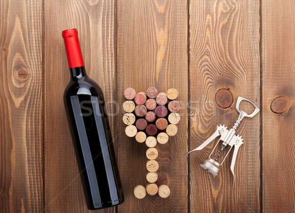 赤ワイン ボトル ガラス コークスクリュー ストックフォト © karandaev