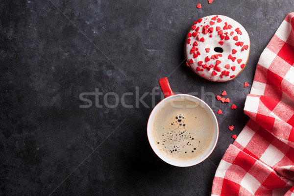 Donut and coffee Stock photo © karandaev