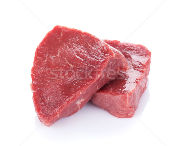 филе стейк говядины изолированный белый обеда Сток-фото © karandaev