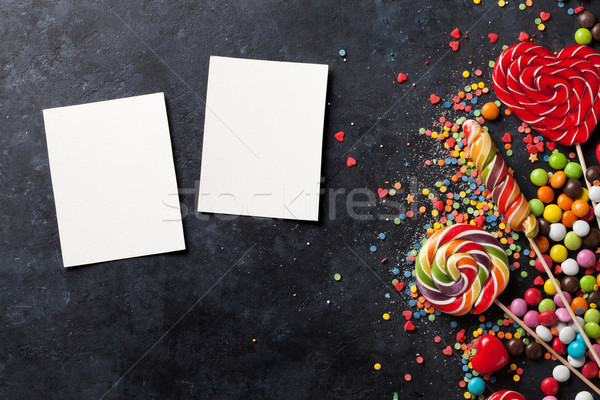 Candies, jelly and marmalade and photos Stock photo © karandaev