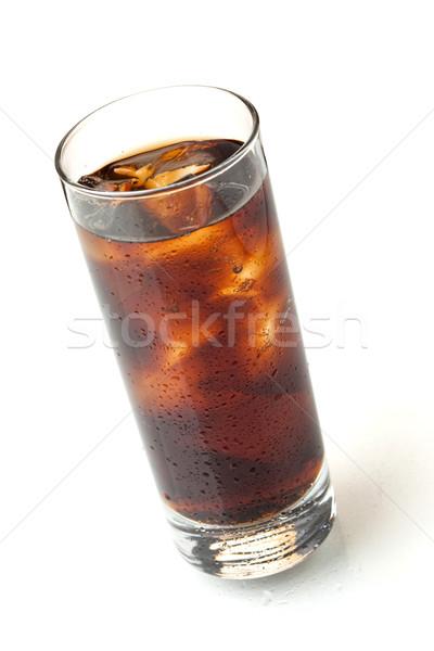 Cola in highball glass, above view Stock photo © karandaev