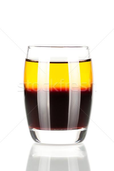 Shot cocktail raccolta scarafaggio alcol isolato Foto d'archivio © karandaev