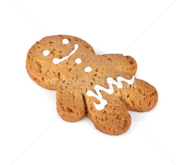 Gingerbread man kurabiye yalıtılmış beyaz sevmek çocuk Stok fotoğraf © karandaev