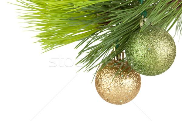 Christmas baubles on firtree Stock photo © karandaev