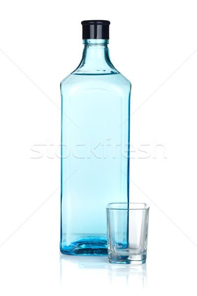 Ginebra botella vacío tiro aislado blanco Foto stock © karandaev