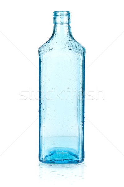 Stock photo: Blue empty bottle