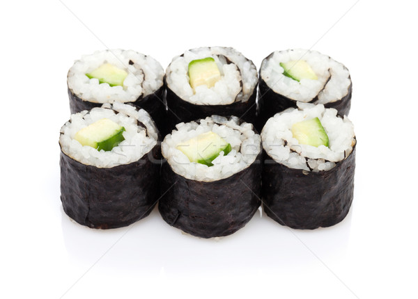 Sushi maki with cucumber Stock photo © karandaev