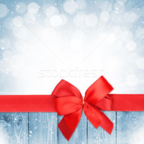 弓 クリスマス 雪 木材 コピースペース ストックフォト © karandaev