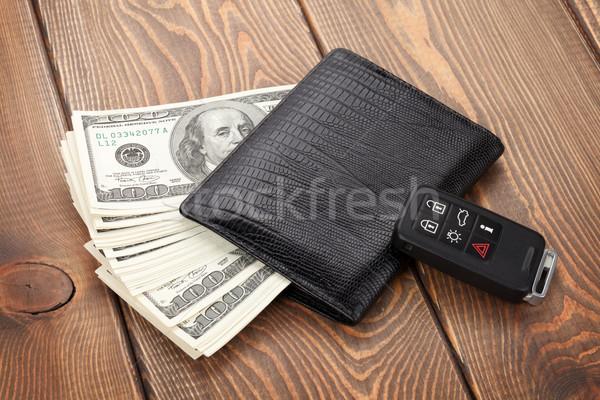 Argent trésorerie portefeuille voiture distant clé Photo stock © karandaev