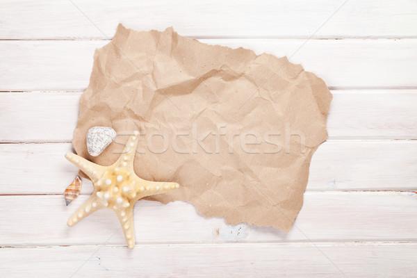 Summer time sea vacation background Stock photo © karandaev