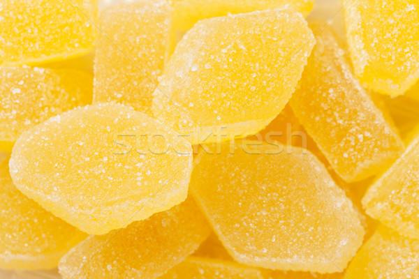 Geel gelei macro textuur Stockfoto © karandaev